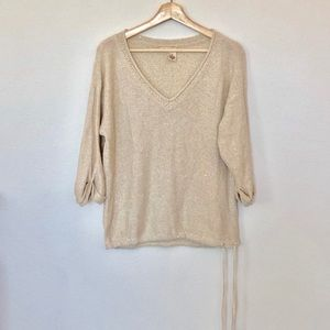 DKNY Gold Sweater/Top Size M